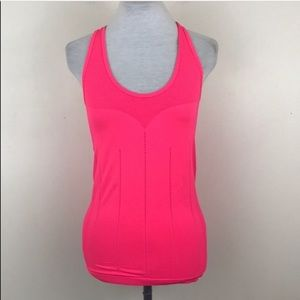 Fabletics Pink Racerback Active Workout Tank Top